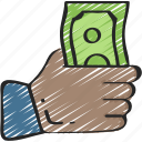 business, donation, finances, give, loan, money icon