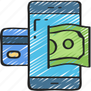 banking, business, finances, mobile, money, phone icon