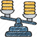 balance, business, finances, money, scales icon