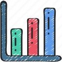 business, chart, data, information, research, results icon