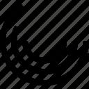 circular, concentric circles, diagram, layer, radial bar chart, series icon