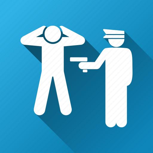 crime, criminal, guard, legal arrest, officer, police, policeman icon