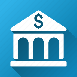 bank building, company, dollar, finance, financial center, money, payment icon