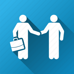 agreement, businessmen, contact, contract, handshake, meeting, partnership icon
