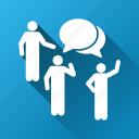 chat, comment, communication, connection, forum, message, talk icon