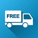 free delivery, gift, logistics, shipping car, transport, truck, warehouse vehicle icon