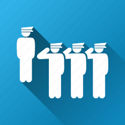 army, guard, military, parade, police squad, staff, team icon