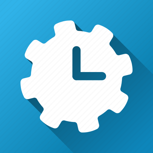 clock, configuration, gear, system, time settings, timer, tools icon