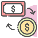 currency, exchange, money, payment icon