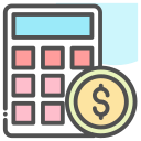 money, calculator, coin, dollar icon