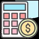 calculator, coin, dollar, money icon