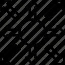 allocation, arrows, branching, distribution, hierarchy