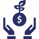 cash, currency, dollar, money, money plant icon