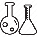 lab, conical flask, flask, laboratory