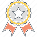 achievement, award, badge, premium, quality, star icon