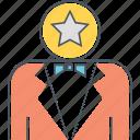 customer service, staff, suit, tux, tuxedo, waitress icon