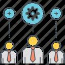 interpersonal skills, intrapersonal skills, skills, team icon
