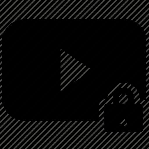 block, content, lock, media, online, stream, video icon