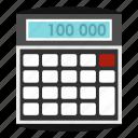 calculator, display, economy, mathematical, mathematics, multiply, subtraction icon