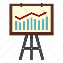 achievement, arrow, bargraph, business, grow, rising, success icon