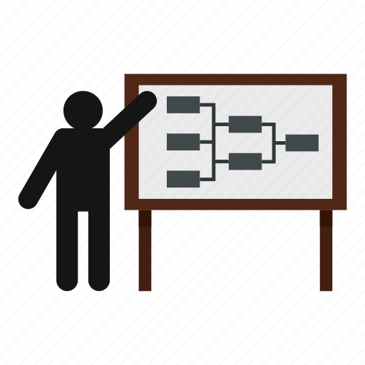 business, circular, line, plan, presentation, processe, progress icon
