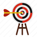 aim, arrow, dart, dartboard, hit, target, targeting icon