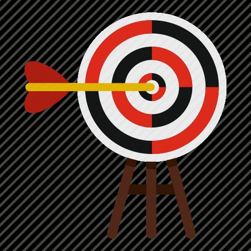 Aim, arrow, dart, dartboard, hit, target, targeting icon - Download on Iconfinder