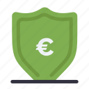 euro, money, protection, shield