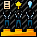 business, podium, reward, stage, team, teamwork, winner