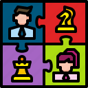 business, concept, jigsaw, puzzle, strategy, teamwork, worker