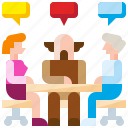 business, conversation, discussion, group, meeting, team, teamwork icon