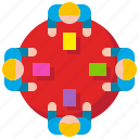 business, corporate, discussion, group, meeting, team, teamwork icon