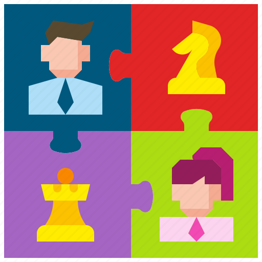 business, concept, jigsaw, puzzle, strategy, teamwork, worker icon