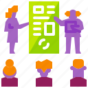 business, education, meeting, people, seminar, teaching, training icon