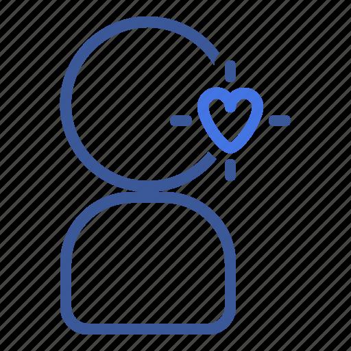 esteem, heart, love, self, user icon