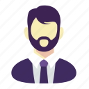 beard, business, man, manager icon