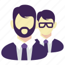 beard, business, employee, glasses, man, manager, team icon