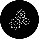 cog, gear, management, settings, team, work icon