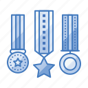 achievement, appraisal, award, badge, medal, prize icon