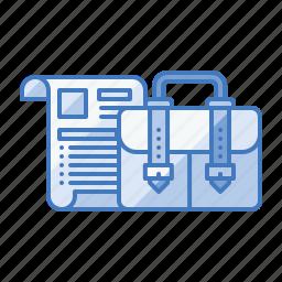 briefcase, business, case, portfolio, suitcase icon