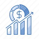 business, growth, hike, improvement, profit, rise, success icon