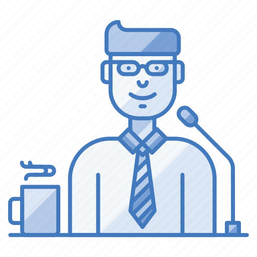business, candidate, conference, interview, presentation, speaker, tribune icon