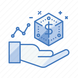 business, property, stake, valuation icon