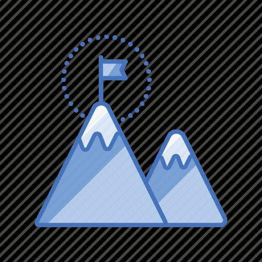 achievement, business, flag, funded, goal, milestone, profit icon