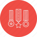 achievement, appraisal, award, badge, medal, prize