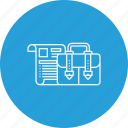 briefcase, business, case, portfolio, suitcase icon