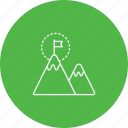 achievement, business, flag, funded, goal, milestone, profit icon