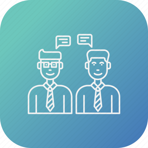 business, consulting, conversation, idea, meeting, sharing icon