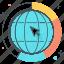 business, earth, finance, global progress, globe, world icon