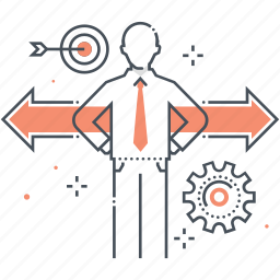 achievement, career, directions, options icon